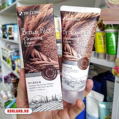 3W Clinic Brown Rice Cleansing Foam (Пенка для Умывания)