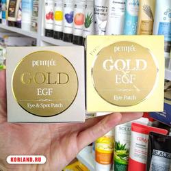 Petitfee Gold Egf Eye Patch (Гидрогелевые Патчи для Век)
