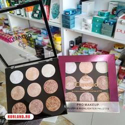 Clavdio Pro Makeup Blush and Highlighter Palette (Бронзеры, Румяна и Хайлайтеры)